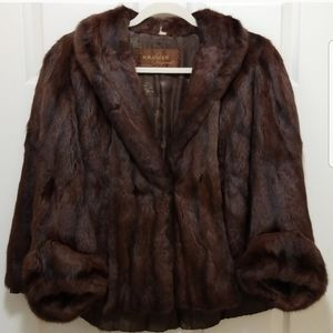 1950's Genuine Russian Squirrel Fur Cape size L